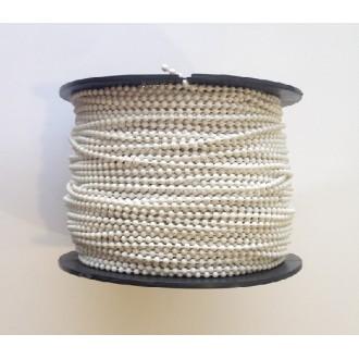 Boncuklu İp Plastik  Beyaz 100 MT (Makara)