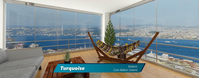 Turquoise Katlanır Cam Balkon Sistemi