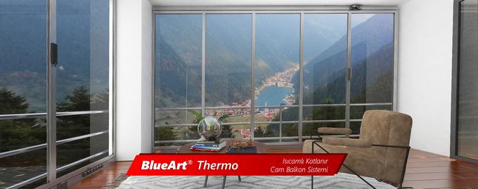 Blueart-Thermo Isıcamlı Katlanır Cam Balkon Sistemi