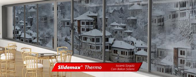 Slidemax-Thermo Isıcamlı Sürgülü Cam Balkon Sistemi